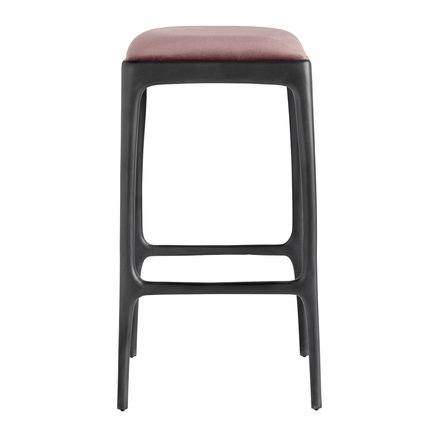 Bar stool, recycled aluminium, 40x40xH75 cm, port