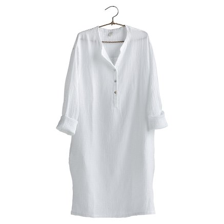 Dress, size 1 - S/M, cotton, white