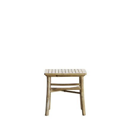 Bamboo lounge table, 45x45xH45, natural