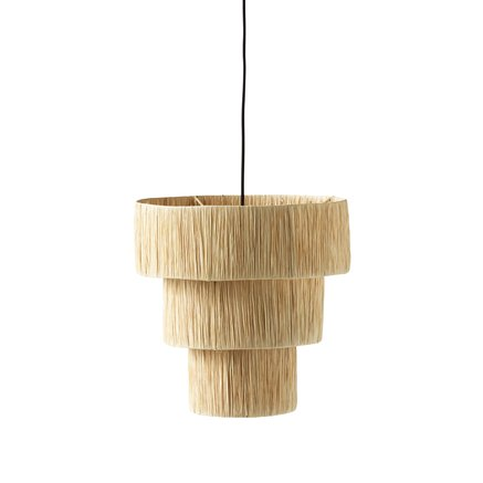 Shade for ceiling, iron/raffia, dia 40XH40 cm,