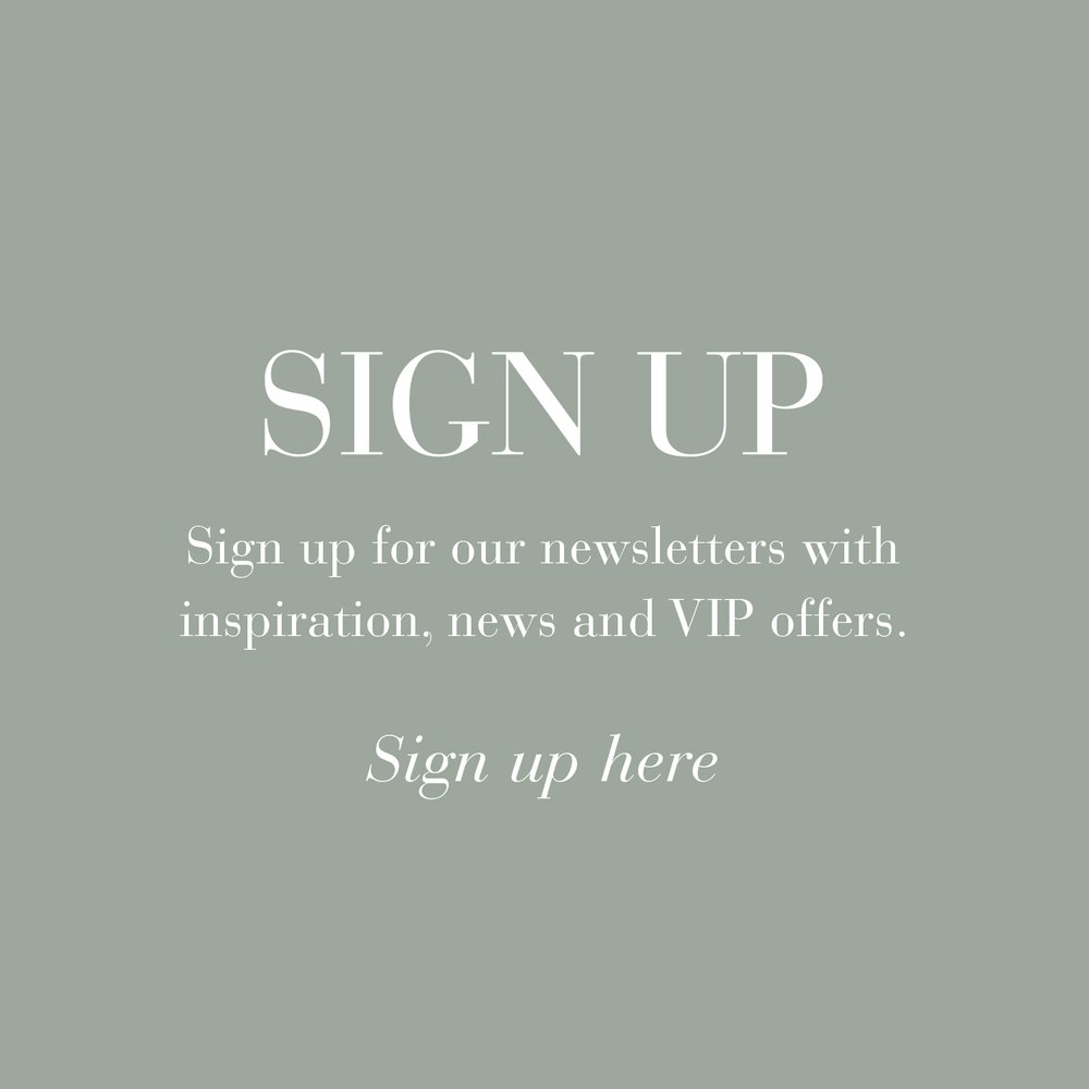 Sign up for tinekhome newsletters here and receive inspiration, news and VIP offers