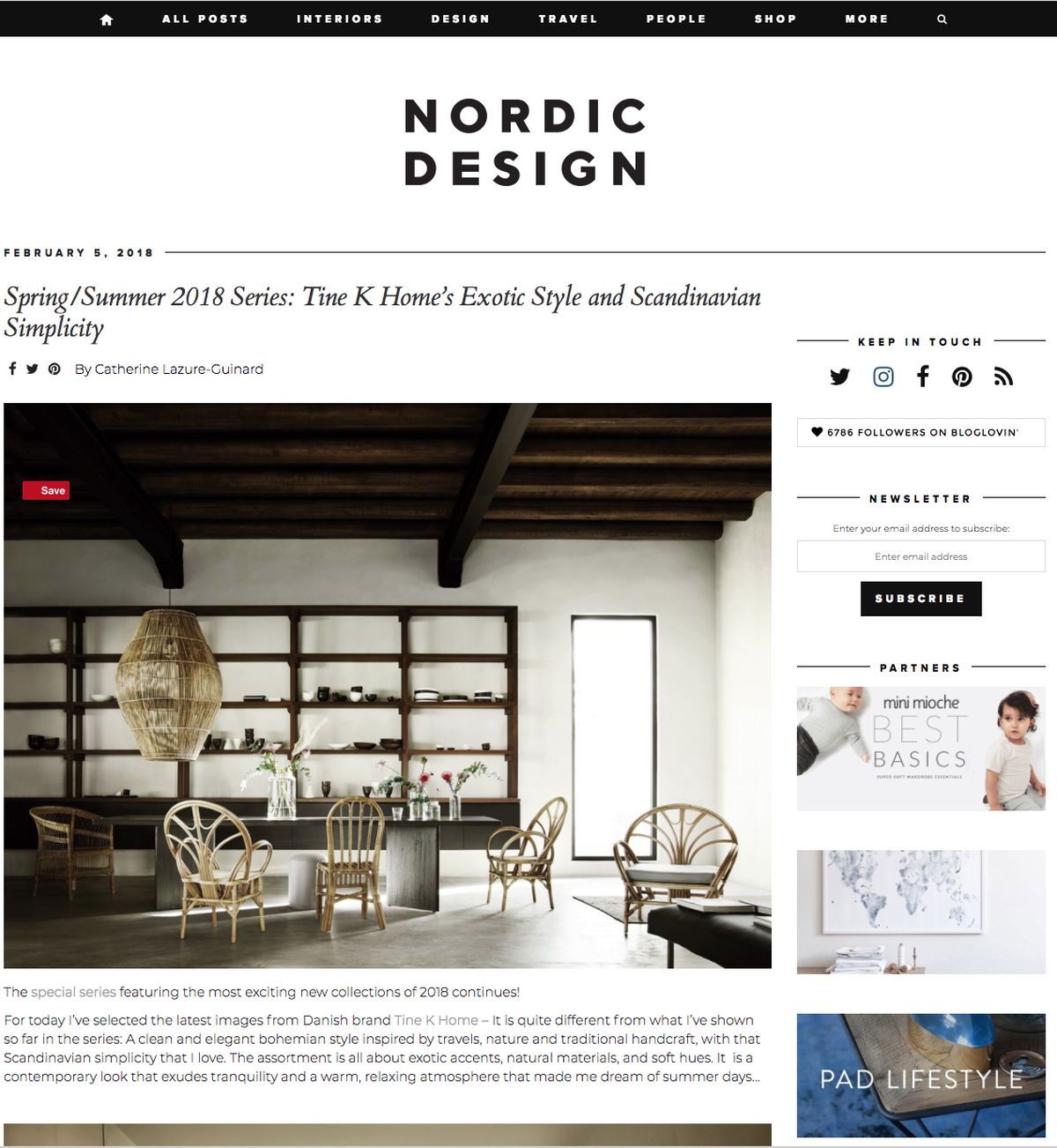 Blog Nordic Design - tinekhome FEEL collection blog feature