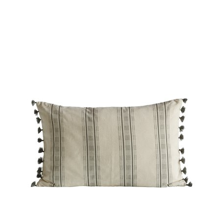 Cushion cover, w. tassels, 40x60 cm, bomuld, agave