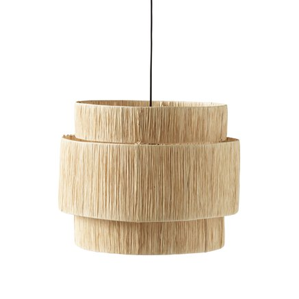 Shade for ceiling, iron/raffia, dia 60xH 48 cm,