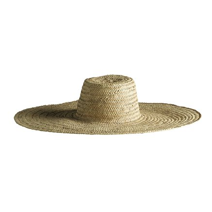 Straw hat with wide shade