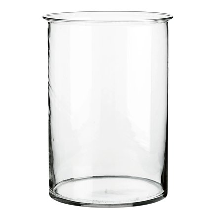 Round glass vase, D22xH30,5, Large