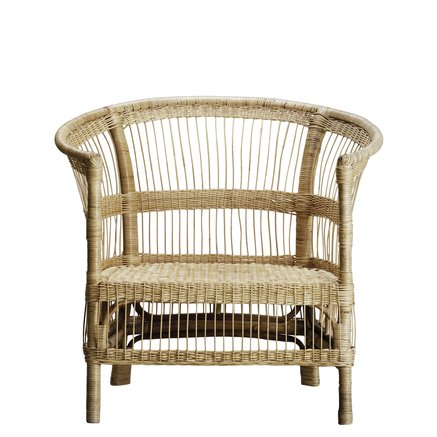 Lounge chair in rattan, 75 x H 36/88 cm