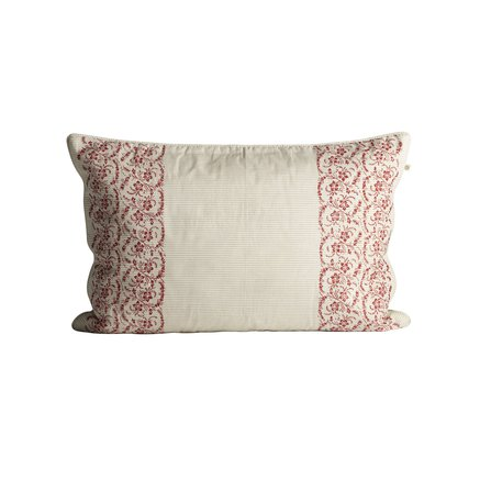 Cushion cover with small flowered print, 40 x 60 cm, red