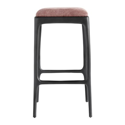 Bar stool, recycled aluminium, 40x40xH75 cm, rust