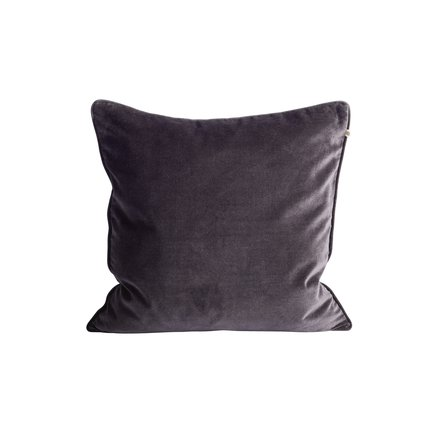 Cushion cover, 50x50, velvet, thunder