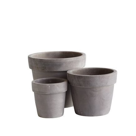 Pot in terracotta, set of 3, natural