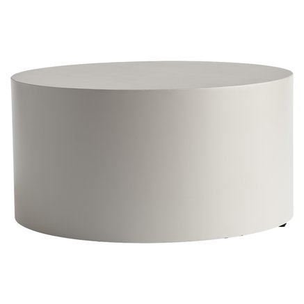 Table, metal, dia 60 x H 30 cm, grey