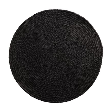 Round placemat, D 40 cm, cotton, black
