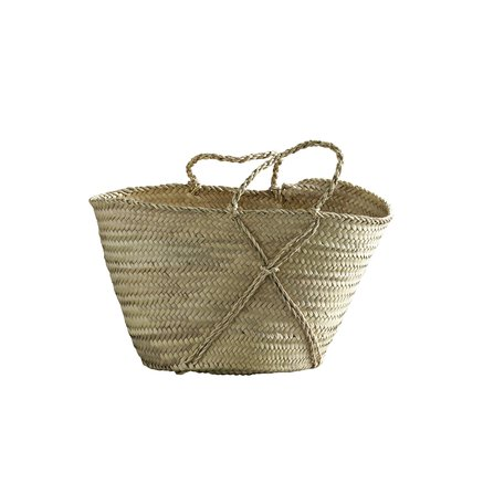 Shopping basket w. braided handles, S, nature