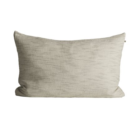 Thick woven cushion cover with horisontal stripes, 50 x 75 cm, ash