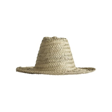 Straw hat with slim shade
