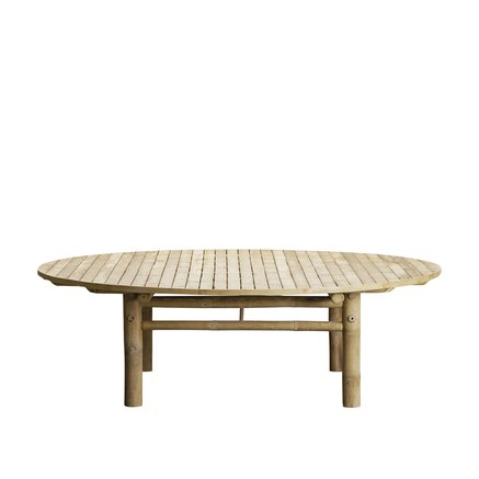 Bamboo lounge table, D160xH45, natural