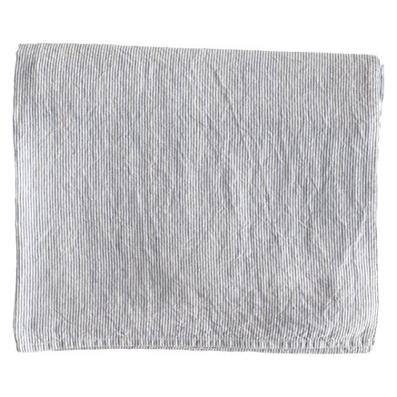 Throw/curtain/tablecloth,pin,140x260cm,linen,wh/bl