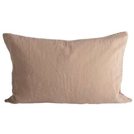 Cushion cover in linen, 50 x 75 cm, camel
