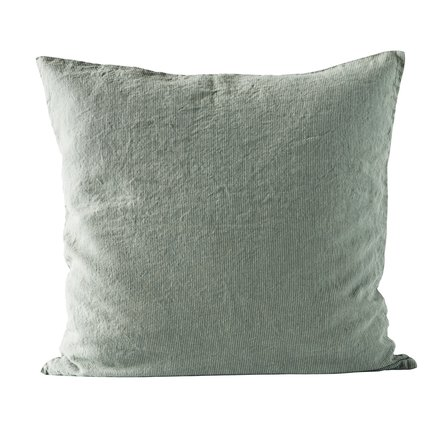 Cushion cover,pin stripe,60x60 cm,100% linen,agave