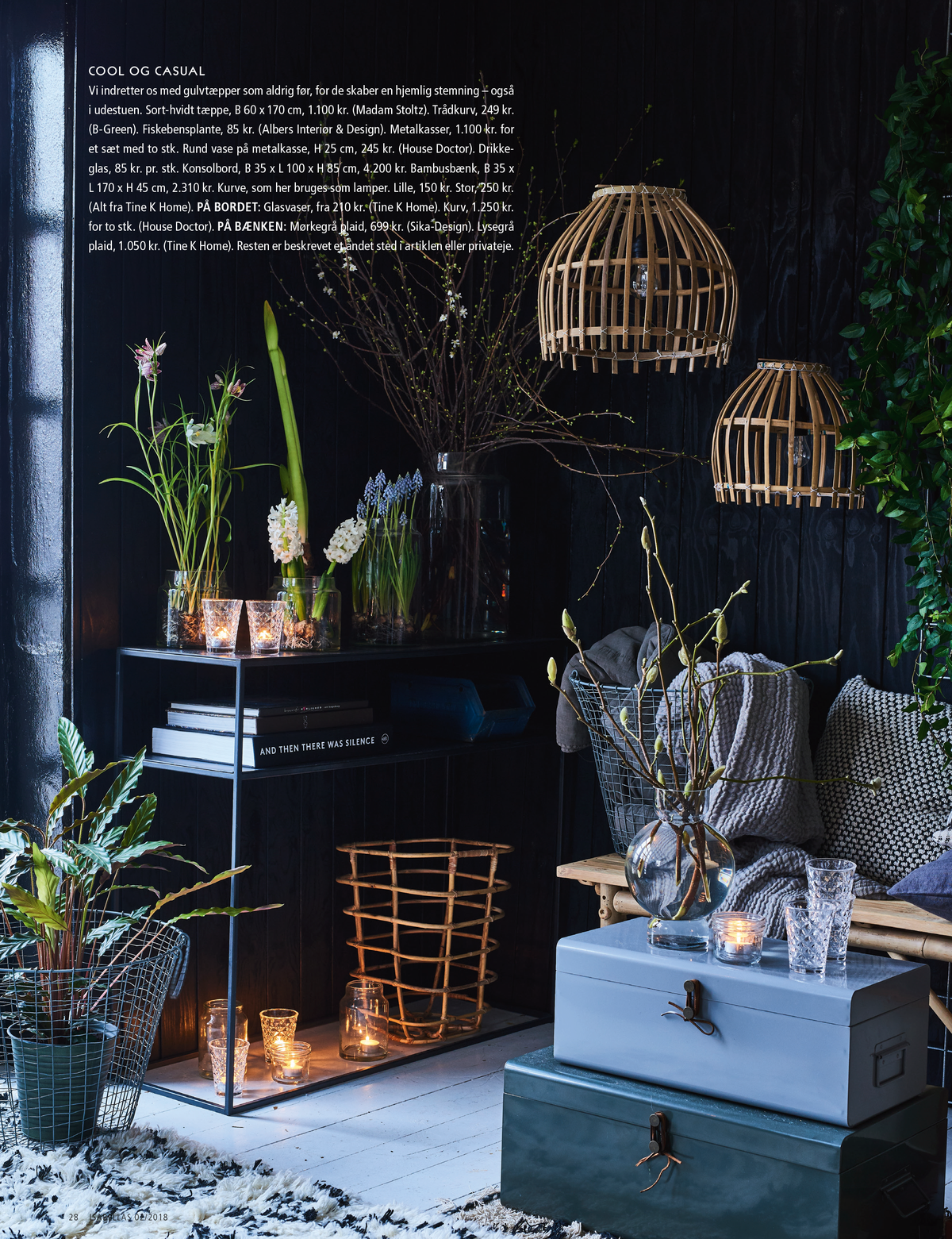 Pernille Albers styling for Isabellas magazine - tinekhome lamp shades and metal consol table