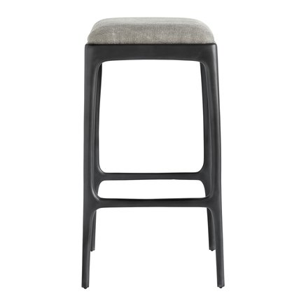 Bar stool, recycled aluminium, 40x40xH75 cm, grey