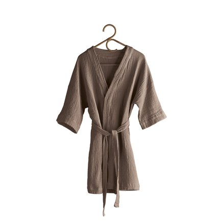 Bathrobe, one size, l 95 cm, 100% cotton, camel