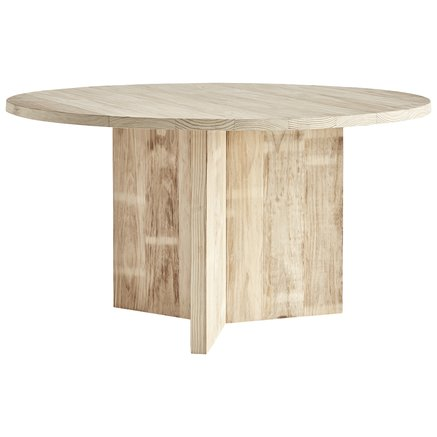 Round table in accoya treated wood, dia. 140 x H 75 cm, nature
