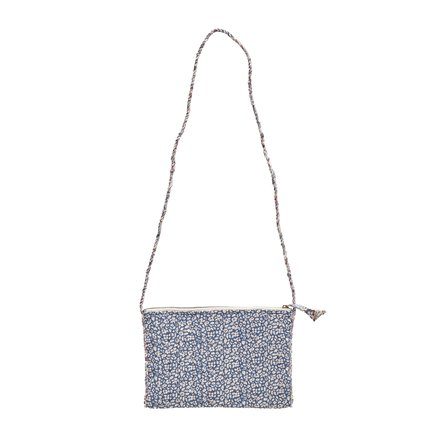 Clutch w. strap, M, 19x27 cm,Liberty,cotton,fields