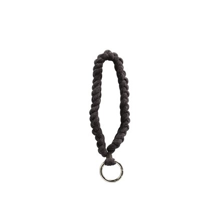 Key ring, cord in velvet, 20 cm, thunder