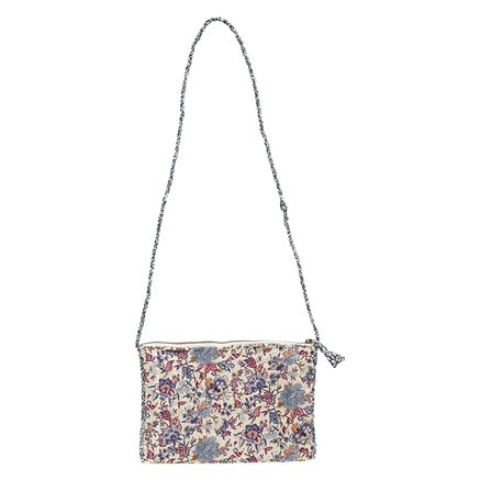 Clutch w. strap, M,19x27 cm Liberty, cotton,flower