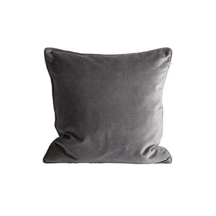 Cushion cover, 50x50, velvet, grey