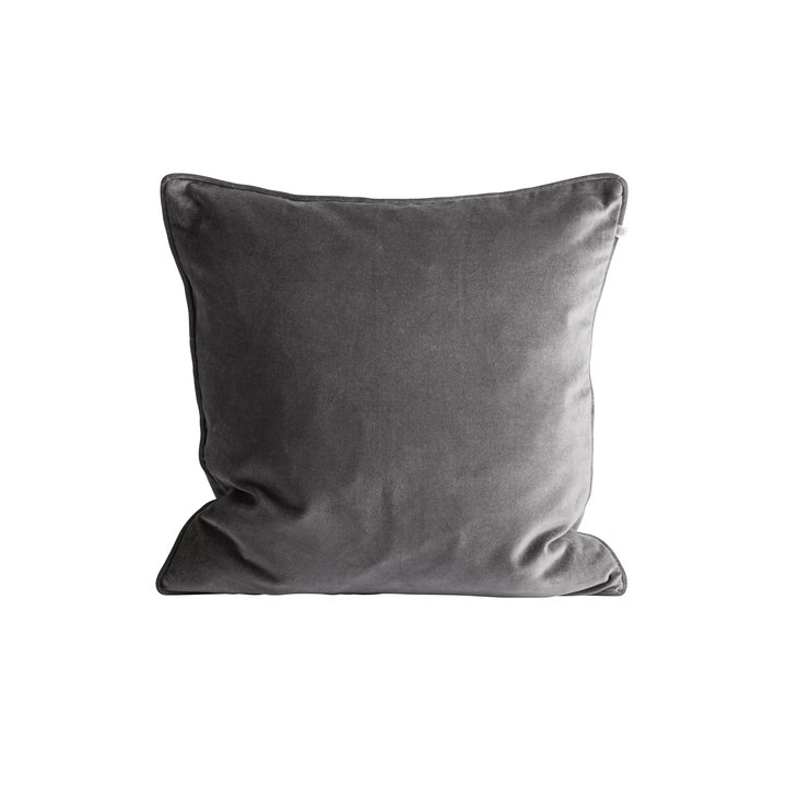 Cushion Cover 50x50 Velvet Grey Products Tine K Home