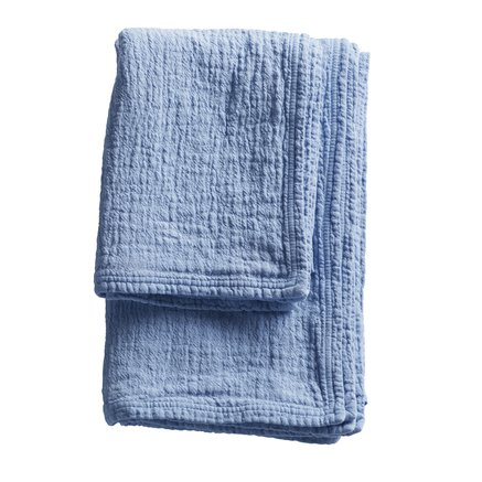 Soft prewashed towel with good suction capacity, baby blue size 90 x 150 cm