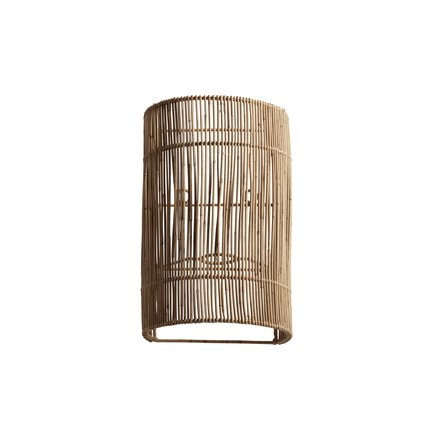 Wall lamp in rattan