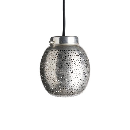 Dome shaped pendant in silverpleated brass