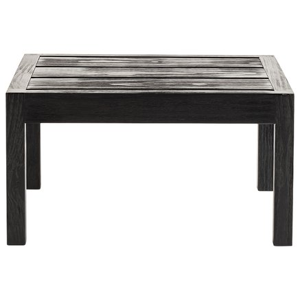 Side table, accoya treated wood, 60 x 60 x H 32 cm, matt black