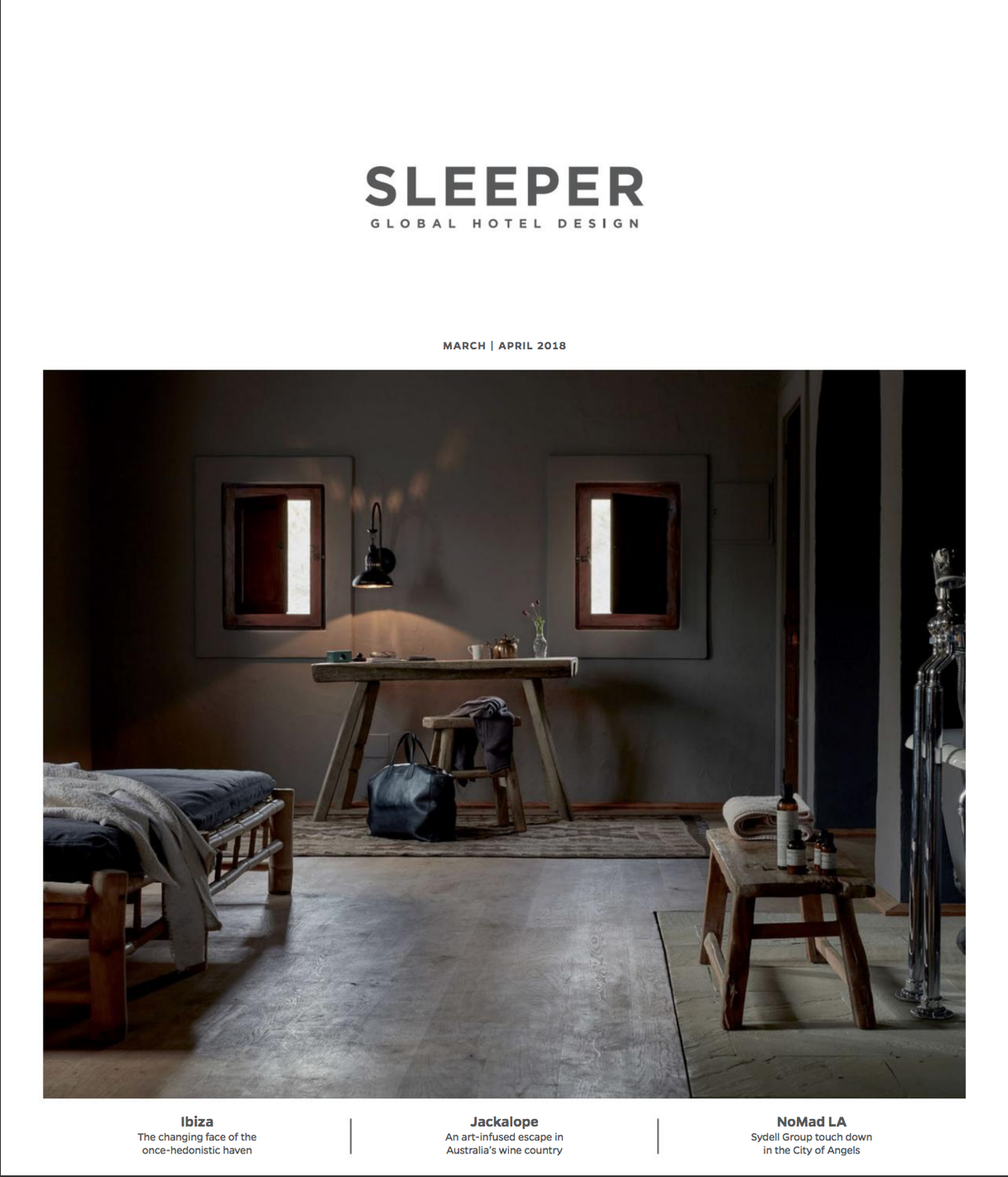 Sleeper magazine - feature on La Granja and Casa Cook - tinekhome bamboo
