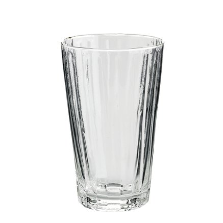 Glass w. grooves for latte, H14