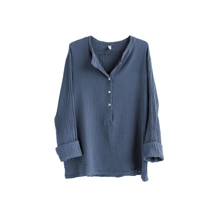 Shirt, size 1 - S/M, cotton, indigo