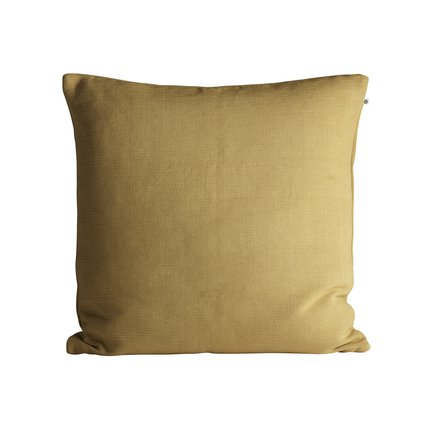 Thick woven cushion cover, 60 x 60 cm, curry