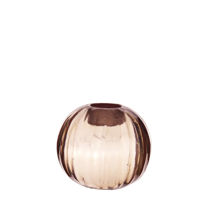 Candle Holder Round Facet D 7 Cm Rose Products