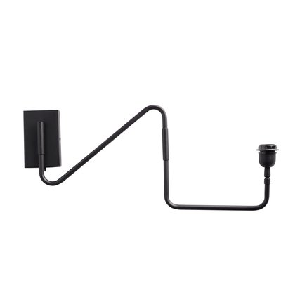 Wall lamp in black, 60 x 22 cm