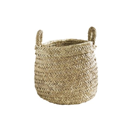 Weaved basket with handles, medium