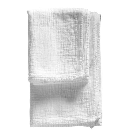 Soft prewashed towel with good suction capacity, white size 50 x 100 cm