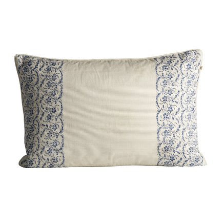 Cushion cover with small flowered print, 40 x 60 cm, azul