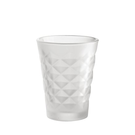Facet glass for candle, H10, white