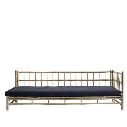 Bamboo lounge bed with phantom mattress, left