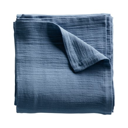 Table cloth, 140 x 250 cm, 100% cotton, azul