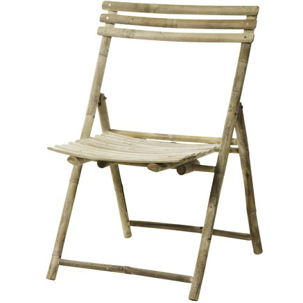 Bamboo folding chair, 57x63xH90 cm, nature